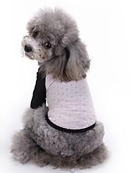 cheap -Cat Dog Shirt / T-Shirt Dog Clothes Summer Stars Cute Fashion Casual/Daily