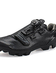 cheap -SANTIC Mountain Bike Shoes Carbon Fiber Breathable Anti-Slip Cycling Black Men's Cycling Shoes / Synthetic Microfiber PU / Forged Microlock Buckle and Strap Adjuster