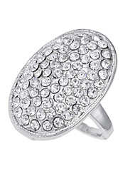 cheap -Men's Band Ring Silver Diamond Alloy Circle Ladies Unique Design Vintage Party Special Occasion Jewelry Logo