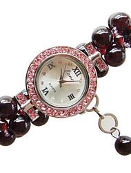 cheap -Women's Fashion Watch Quartz Jade Red Analog Dark Red