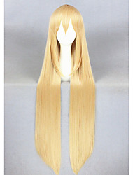 cheap -Synthetic Wig Cosplay Wig Straight Straight Wig Blonde Long Blonde Synthetic Hair Women's Blonde