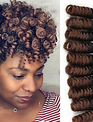 cheap -Braiding Hair Bouncy Curl / Crochet / Saniya Curl Twist Braids / Curlkalon Hair 100% kanekalon hair / Kanekalon 20 roots / pack Hair Braids Ombre 10 inch Daily
