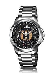 cheap -Men's Mechanical Watch Quartz Silver Analog LightBlue Blue Black / Silver