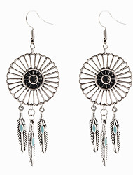 cheap -Women's Dangle Earrings Dangling Pendant Tassel Vintage Bohemian Euramerican Earrings Jewelry Silvery For Daily Casual
