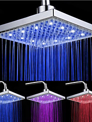 cheap -LED Tricolor Luminous Color Top Spray Shower Head With  Temperature /9 Inch Water Booster Top Spray (ABS Plating)