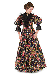 cheap -Victorian The Marvelous Mrs. Maisel Dress Cosplay Costume Party Dress Women's Floral Victorian Wasp-Waisted Christmas Halloween Carnival Festival / Holiday Lace Organza Women's Carnival Costumes