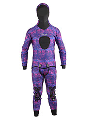 cheap -YON SUB Men's Women's Diving Wetsuit Hood Semi-Drysuit 3.5mm Neoprene Hoodie Diving Suit Top UV Sun Protection Breathable Warm Long Sleeve Diving Snorkeling Classic Spring Summer Fall / Quick Dry