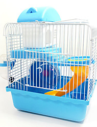 cheap -Rodents Rabbits Chinchillas Hamster Plastic Metal Portable Multi-function Cages Coffee Blue Pink