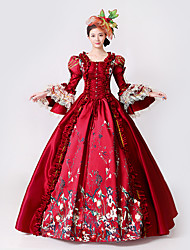 cheap -Princess Goddess Dress Cosplay Costume Masquerade Ball Gown Women's Rococo Medieval Renaissance Party Prom Christmas Halloween Carnival Festival / Holiday Lace Organza Red Women's Carnival Costumes