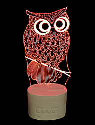 cheap -3D Nightlight Rechargeable Dimmable Compact Size Artistic LED Modern Contemporary 1 pc