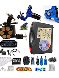 cheap -BaseKey Professional Tattoo Kit Tattoo Machine - 3 pcs Tattoo Machines, Professional Alloy 20 W LED power supply 2 rotary machine liner & shader / 1 alloy machine liner & shader / Case Included