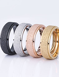 cheap -Women's Couple Rings Black Champagne Gold Stainless Steel Titanium Steel Gold Plated Round Ladies Basic Wedding Party Jewelry Friendship
