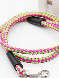 cheap -Dog Leash Adjustable / Retractable Solid Colored Fabric Pink Green