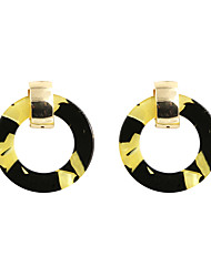 cheap -Women's Drop Earrings Circular Fashion Euramerican Earrings Jewelry Yellow For Wedding Party Halloween Daily Casual Sports