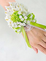 cheap -Wedding Flowers Bouquets / Wrist Corsages / Unique Wedding Décor Wedding / Special Occasion / Party / Evening Material / Lace / Satin 0-20cm