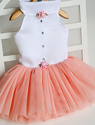 cheap -Cat Dog Dress Dog Clothes Fuchsia Orange Green Costume Fabric Princess S M L