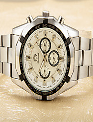 cheap -Men's Fashion Watch Quartz Stainless Steel Silver Analog Casual - White Black