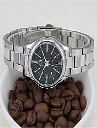 cheap -Men's Fashion Watch Quartz Stainless Steel Silver Analog White Black