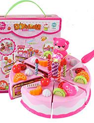 cheap -Toy Kitchen Set Toy Food / Play Food Pretend Play Fruit Cake Dessert Simulation PVC(PolyVinyl Chloride) Kid's Boys' Girls' Toy Gift