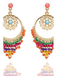 cheap -Women's Drop Earrings Chandelier Flower Tassel Bohemian Fashion Resin Earrings Jewelry Gold For Casual