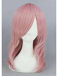 cheap -Cosplay Costume Wig Synthetic Wig Straight Straight Wig Pink Short Pink Synthetic Hair Women's Pink