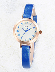 cheap -Women's Fashion Watch Quartz Leather White / Blue / Gold Analog Gold White Blue