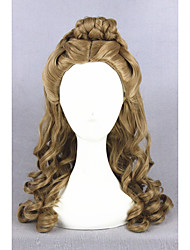 cheap -medium long wave cinderella wig brown synthetic 22inch anime cosplay hair lolita wig cs 250a Halloween