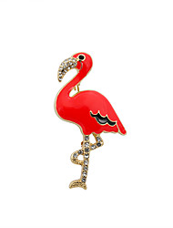 cheap -Women's Brooches Bird Animal Luxury Fashion Cute Euramerican Rhinestone Imitation Diamond Brooch Jewelry Yellow Red For Wedding Party Special Occasion Daily Casual