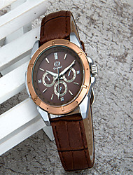 cheap -Women's Fashion Watch Quartz Leather Brown Analog Casual - Coffee