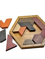 abordables -Tangram Blocs de Construction Puzzle Puzzles en bois Maquettes de Bois Economique Rétro Unisexe Garçon Fille Jouet Cadeau
