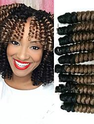 cheap -Braiding Hair Bouncy Curl / Crochet Twist Braids 100% kanekalon hair / Kanekalon 20 roots / pack Hair Braids Ombre 100% kanekalon hair