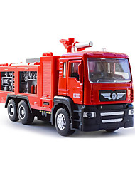 cheap -1:50 Plastic Fire Engine Vehicle Toy Truck Construction Vehicle Toy Car Music & Light Pull Back Vehicles Fire Engine Boys' Girls' Kid's Car Toys