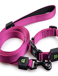 cheap -Dog Leash Adjustable / Retractable Solid Colored Nylon Purple Pink Orange Green