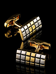 cheap -Cufflinks Pattern Classic Gift Boxes & Bags Fashion Brooch Jewelry Golden For Party Business / Ceremony / Wedding