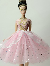 cheap -Doll accessories Doll Clothes Doll Dress Wedding Dress Party / Evening Sweet Lolita Wedding Ball Gown Tulle Lace Organza For 11.5 Inch Doll Handmade Toy for Girl's Birthday Gifts  Doll Not Included