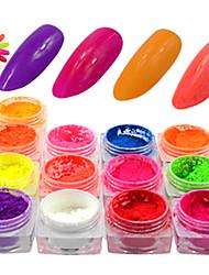 abordables -13bottles/set Paillettes Manucure Manucure pédicure Quotidien Brille & Scintille / Néon et lumineux