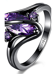 cheap -Women's Ring Amethyst Purple Green Blue LED Synthetic Gemstones Alloy Geometric Ladies Fashion Party Daily Jewelry Marquise Cut Contour