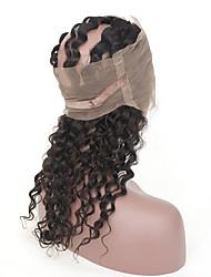 Недорогие -3 комплекта с закрытием Бразильские волосы 360 фронтальных Крупные кудри Не подвергавшиеся окрашиванию Человека ткет Волосы Ткет человеческих волос Расширения человеческих волос / 10A