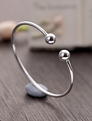 cheap -Women's Cuff Bracelet Basic Fashion Classic Sterling Silver Round Geometric Ball Jewelry For Party Birthday Daily