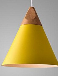 cheap -Cone Pendant Light Ambient Light Painted Finishes Aluminum LED 110-120V / 220-240V Warm White Bulb Not Included / E26 / E27
