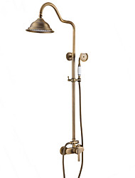 cheap -Shower Faucet - Antique / Country / Modern Antique Copper Shower Only Ceramic Valve / Single Handle Two Holes Bath Shower Mixer Taps