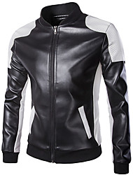 cheap -18LBY6FH Motorcycle Clothes Jacket for PU Leather All Seasons Windproof