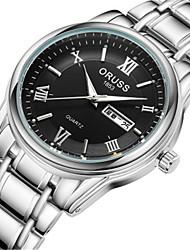 cheap -Men's Fashion Watch Quartz Formal Style Silver 30 m Water Resistant / Waterproof Calendar / date / day Analog Casual - White Black