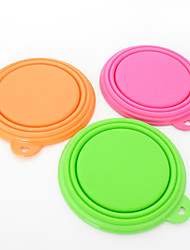 cheap -Cat / Dog Bowls & Water Bottles Pet Bowls & Feeding Waterproof / Portable / Foldable Orange / Green / Pink