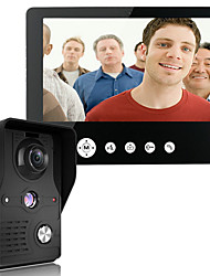 cheap -MOUNTAINONE 9 Inch Video Door Phone Doorbell Intercom Kit 1-camera 1-monitor Night Vision