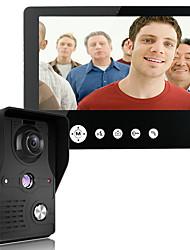 Недорогие -Mountainone 9-дюймовый видеодомофон дверной звонок комплекта интерком 1-камера 1-монитор ночного видения
