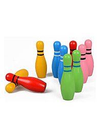 cheap -Balls Wooden Puzzle Bowling Toy Eco-friendly Colorful Wooden Kid's Boys' Girls' Toy Gift
