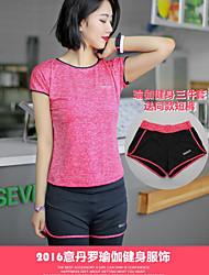 cheap -Men's Women's Spandex Sports Clothing Suit Leisure Sports Breathable Slim Black