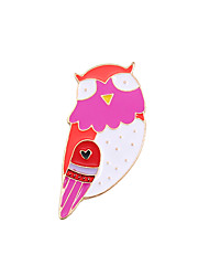 cheap -Women's Boys' Girls' Brooches Owl Animal Unique Design Cute Brooch Jewelry Purple For Wedding Party Special Occasion Daily Casual