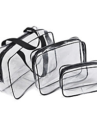 cheap -3pcs Travel Bag / Travel Organizer / Travel Luggage Organizer / Packing Organizer Large Capacity / Waterproof / Portable Camping & Hiking / Luggage PVC(PolyVinyl Chloride) / Durable